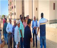 قيادات الإسكان يتفقدون المشروعات الجاري تنفيذها بمدينة العاشر من رمضان