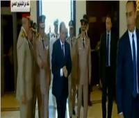 فيديو| لحظة وصول الرئيس السيسي مركز المنارة لحضور تخريج دفعة المشير الجمسي