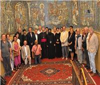 وفد من إيبارشية الشتايرمارك النمساوية يزور الكاتدرائية المرقسية بالإسكندرية