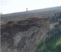صور| انهيار جزئي لجسر ترعة السويس بالإسماعيلية