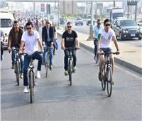صور.. ماراثون دراجات بجامعة مصر للعلوم والتكنولوجيا