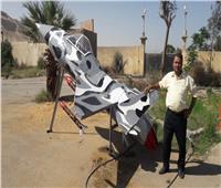 مجلس مدينة سوهاج يصنع طائرة مجسمة من الخردة