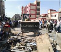 اليوم الثاني.. استمرار حملة إزالة إشغالات سوق على بزهور بورسعيد
