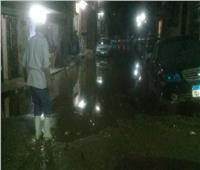 فيديو وصور| مياه «الصرف الصحي» تغرق شوارع عين شمس
