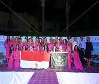 صور| ملكات جمال بلجيكا يرفعون علم مصر في شرم الشيخ