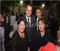 صور| محمد ثروت وسمية أيوب وسميرة عبد العزيز يحتفلون بالعيد الوطني للمجر