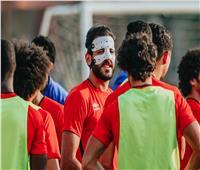 مروان محسن يشارك في مران الأهلي بواقي الوجه