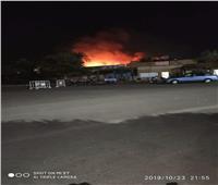 الأثار تؤكد سلامة معبد الكرنك من حريق أمس
