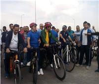 صور  أشرف صبحي يشارك في ماراثون الدراجات بالإسماعيلية