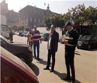 ضبط 300 مخالفة في حملة لمرور الجيزة