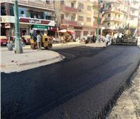 صور  انتهاء رصف شوارع جسر الصليبة وتقسيم الحقوقيين وسيتى بمدينة أسيوط