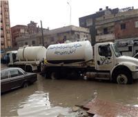 تجهيز ١٣ سيارة لشفط المياه من شوارع العريش