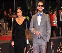 شاهد| أحمد الفيشاوي وزوجته في أحدث ظهور لهما