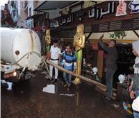 صور| أجهزة الدولة تتضافر لمواجهة سوء الأحوال الجوية بالإسكندرية