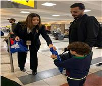 صور| مصر للطيران تحتفل بوصول أول رحلة لنيويورك بطائرة الأحلام