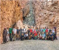 صور| 32 سائحًا دنماركيًا يقضون إجازاتهم بين جمال الطبيعة في جنوب سيناء