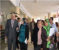 لجنة تقييم الجامعات تتفقد جامعة السادات
