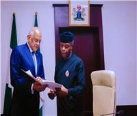 عبد العال يلتقي نائب رئيس الجمهورية النيجيري