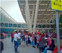 استقبال جماهيري لأبطال منتخب «الكاراتية» بمطار القاهرة