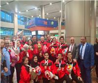بعثة منتخب الكاراتيه تصل القاهرة بعد التتويج ببطولة العالم