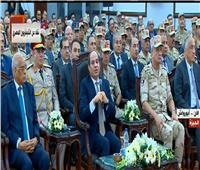 فيديو| الرئيس السيسي يطالب الإعلام بالتصدي لحرب الشائعات والتشكيك