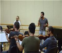 صور| سعد رمضان في بروفة حفل مهرجان الموسيقى العربية