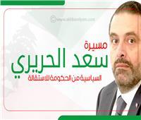 إنفوجراف| مسيرة سعد الحريري السياسية من الحكومة للاستقالة