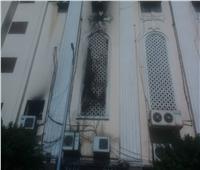 وصول النيابة العامة لكنيسة مارجرجس في شبرا لمعاينه مكان الحريق