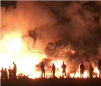 حريق هائل بشركة الدلتا للأسمدة ولا خسائر بشرية