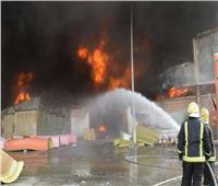 السيطرة على حريق بمخزن بالشرابية دون اصابات