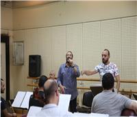 صور| علي الحجار يجري بروفات حفل مهرجان الموسيقى العربية