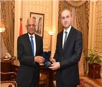 عبد العال رئيس مجلس النواب يستقبل القائم بأعمال سفارة سلوفاكيا بالقاهرة