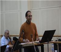 صور| ماجد سرور يجري بروفات حفله بـ«الموسيقى العربية»