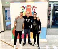 عمرو دياب وأحمد حلمي على متن طائرة خاصة في الرياض