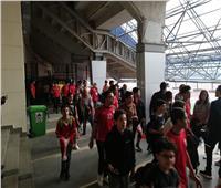 بالصور| الجماهير تتوافد على ستاد القاهرة لمؤازرة المنتخب الأولمبي