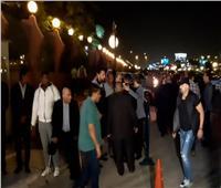 فيديو و صور| أحمد السقا يصل عزاء هيثم أحمد زكي