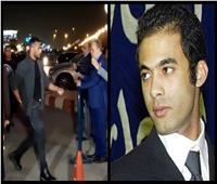 صور  وصول محمد رمضان إلى عزاء هيثم أحمد زكي بمسجد الشرطة بالشيخ زايد
