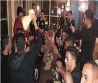 صور| المنتخب الأولمبي يحتفل بعيد ميلاد أكرم توفيق