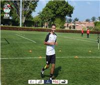 تدريبات تأهيلية لحسين الشحات في معسكر منتخب مصر