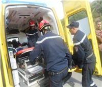 إصابة ٦ أشخاص إثر تصادم مروع بالطريق الزراعي في البحيرة