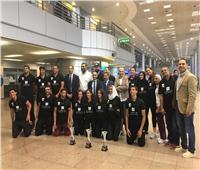 وفد من وزارة الرياضة لاستقبال أبطال السلة بعد فوزهم ببطولة أفريقيا