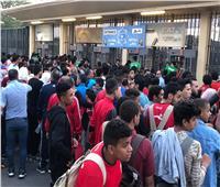 صور| بدء توافد الجماهير على ستاد القاهرة لحضور مباراة مصر وغانا