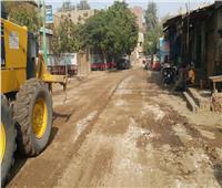 صور| شوارع العياط تستعد لموسم الشتاء بتمهيد الطرق لمنع تجمعات الأمطار