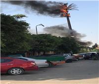 الحماية المدنية تسيطر على حريق بشبكة اتصالات