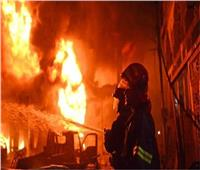 السيطرة على حريق جراج ببولاق الدكرور