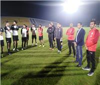 صور| وزير الرياضة يزور معسكر منتخب مصر في برج العرب