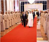 الرئاسة تنشر صور وصول الرئيس السيسي إلى دولة الإمارات