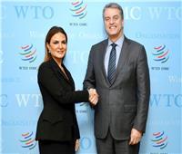 سحر نصر تبحث مع مدير منظمة التجارة العالمية تيسير الاستثمار في أفريقيا