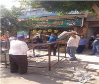 حملة مكبرة لرفع الإشغالات والمخالفات بأسواق مدينة الشروق