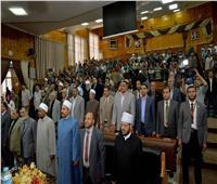 محافظ أسيوط يشهد احتفالية فرع جامعة الأزهر بذكرى المولد النبوى